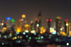 Blurred Photo Cityscape bokeh
