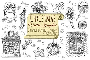 Christmas vector clip arts