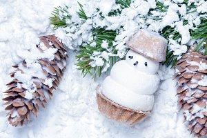 little snowman biscuit