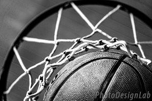 Basketball, black and white