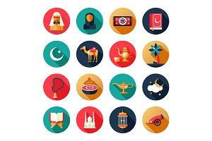 Islamic Culture - Flat Icons Set
