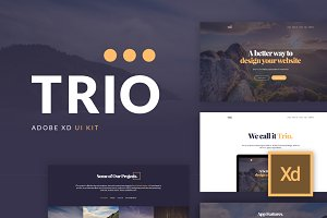 Trio UI Kit for Adobe XD