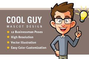 Cool Guy Mascot