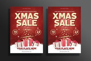 Modern Christmas Sale Flyer
