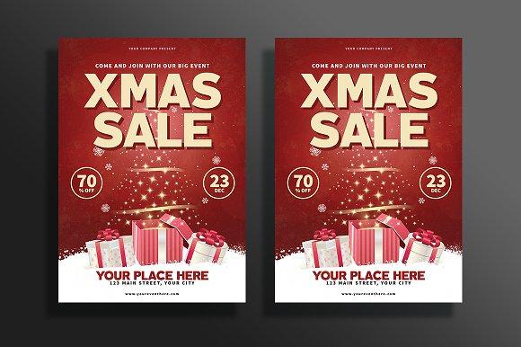modern christmas sale flyer flyer templates creative market