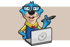 Otter Geek Mascot
