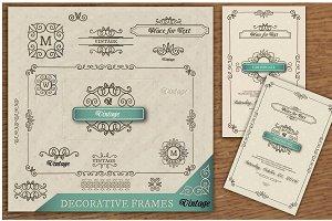 Set of Frames, Borders, Diploma