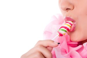 colored lollipop