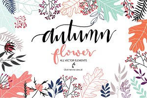 AUTUMN FLOWER III VECTOR FILE