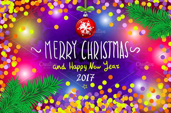 Merry christmas happy new year 2017 graphics creative market m4hsunfo