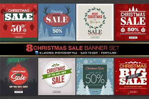 Christmas Sale Banners Set