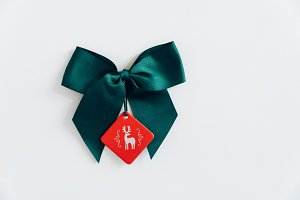 Christmas gift green ribbon