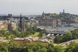 View on Edinburgh's Waverly railway
