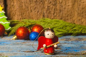 Christmas ornaments rustic card