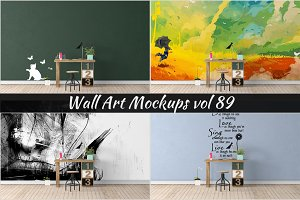 Wall Mockup - Sticker Mockup Vol 89