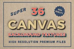 36 Premium Canvas BG Textures