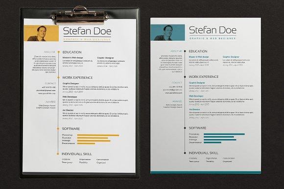 5 color resume cover resume templates creative market