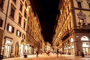 Florence night street