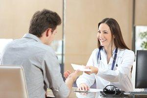 Happy doctor female