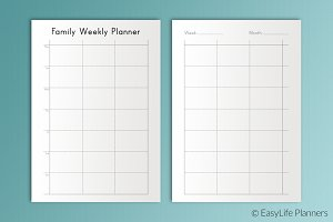 Family Weekly Planner A5 Printable