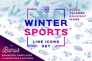Winter Sport Icons Branding Graphics