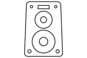 Music speaker thin line icon