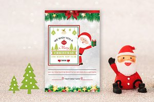 Christmas Card Template-V440