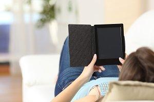 Girl reading an ebook