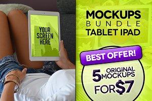5 Mockups iPad (pics+PSD)