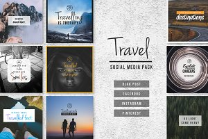 TRAVEL - Social Media Pack