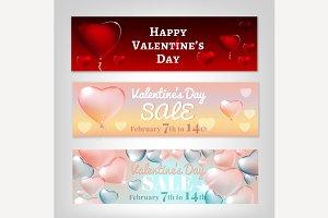 Valentine Banners Set