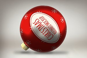Christmas Ornament Mock-up#4