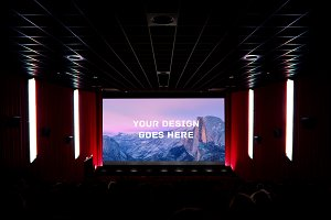 Cinema Screening Room Mock-up#1