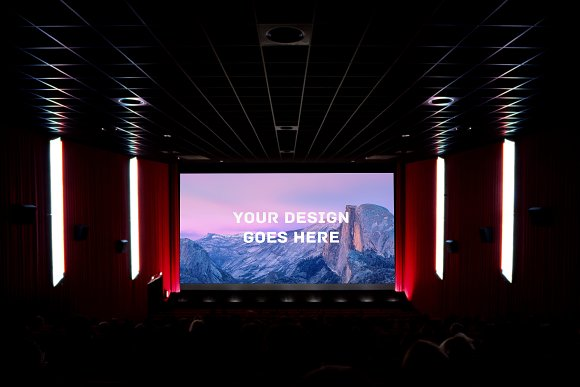 Download Cinema Screening Room Mock-up#1