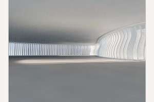 White Futuristic Interior