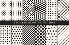Geometric vector seamless patterns