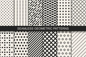Geometric vector seamless patterns