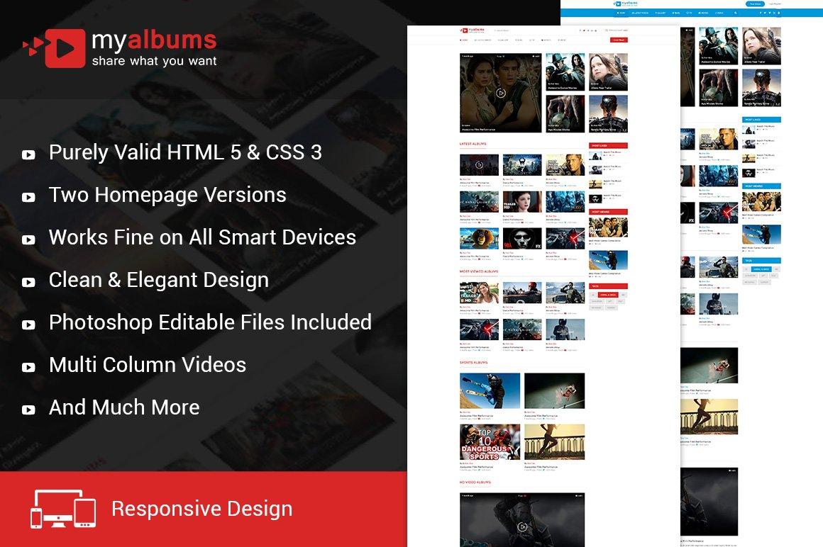 My Tube Video Theme Html Template Htmlcss Themes Creative Market