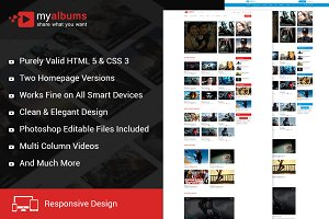 My Tube Video Theme HTML Template