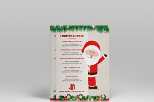 Christmas Menu flyer Template-V441