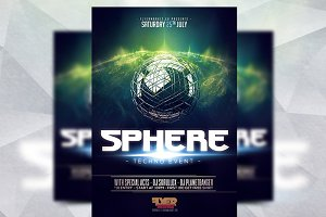 Sphere Techno Event - Flyer Template
