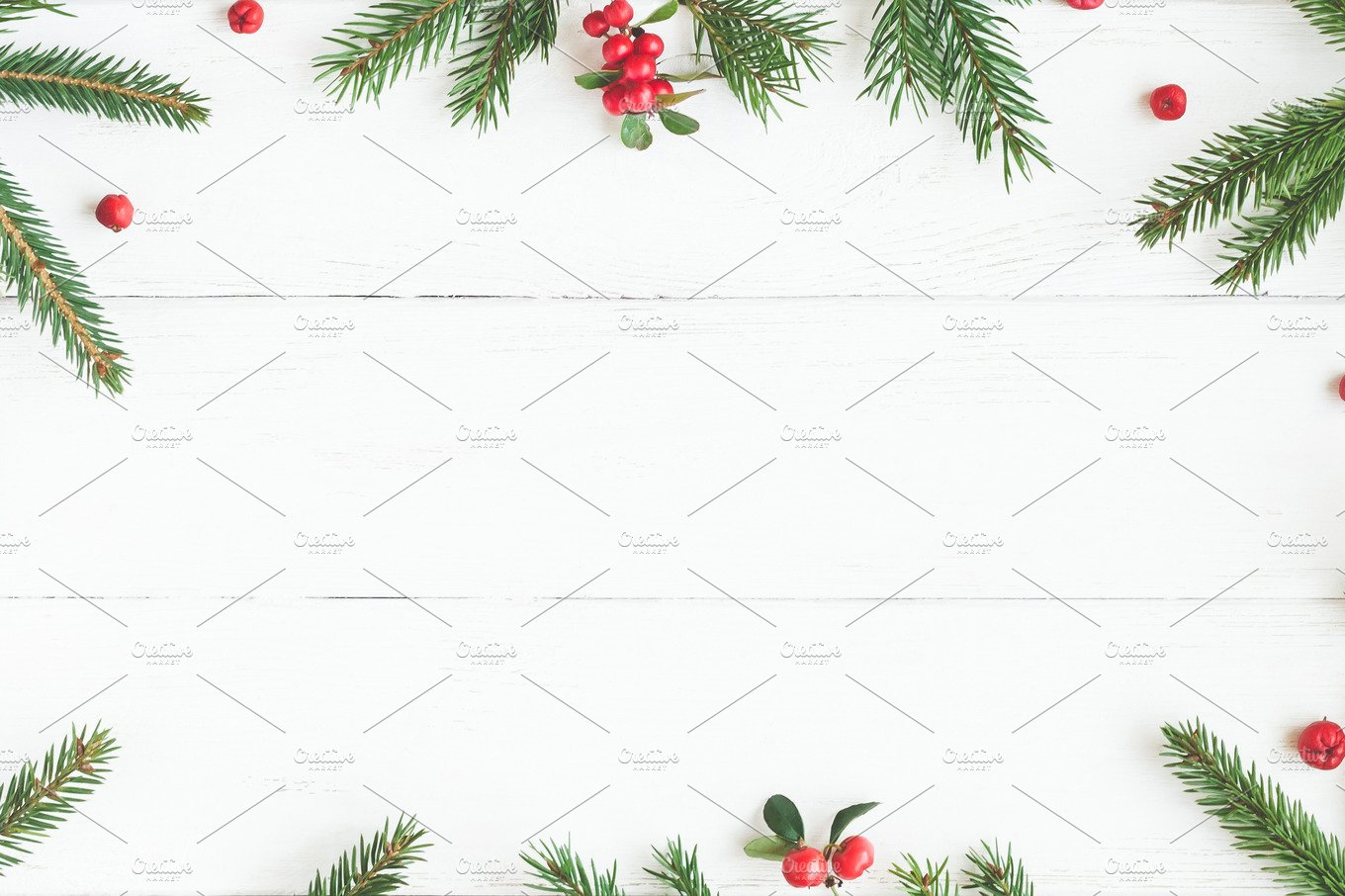 Christmas frame mockup Photos, Graphics, Fonts, Themes, Templates ...