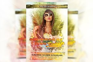 Tropical Sunset - Flyer Template