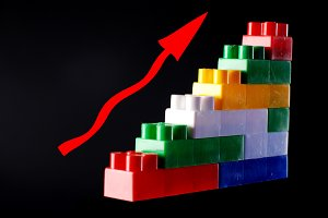 concept color toy piramid