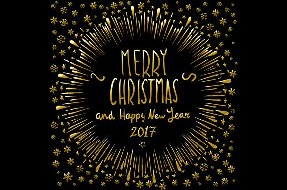 merry christmas happy new year 2017 graphics