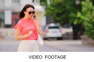 Caucasian woman taking by cellphone