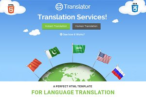 Translator HTML Website Template