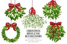 Mistletoe Christmas Clip art