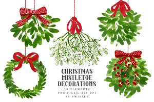 Mistletoe Christmas Clip art