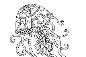 Zendoodle of jellyfish